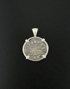 crusader denaro coin pendant
