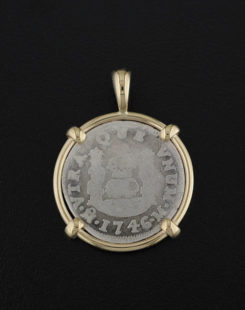 Spanish One Real Coin Pendant