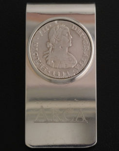 one real bust coin money clip