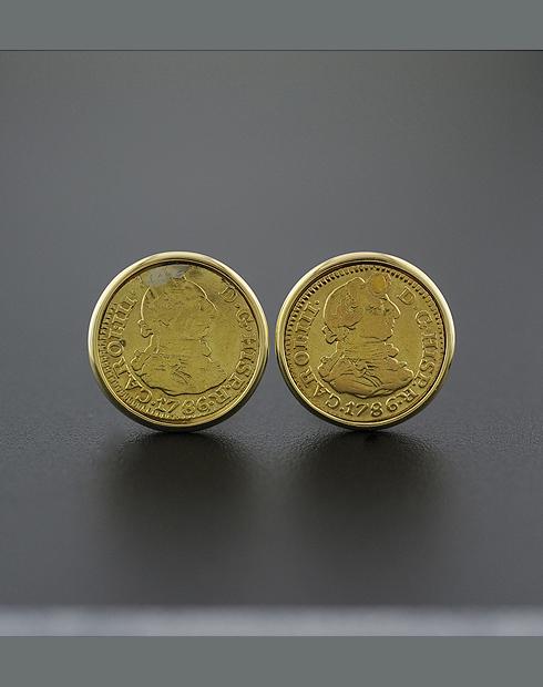 spanish gold coin cuff links