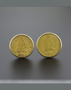 spanish gold coin cuff links