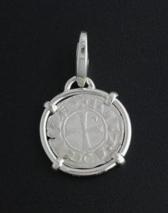 Crusader Denier Coin Pendant