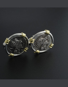ancient roman coin cufflinks