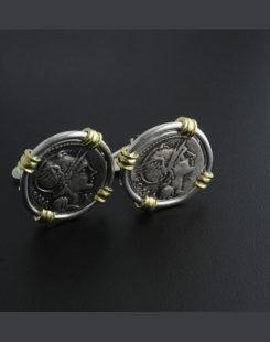 ancient roman coin cufflinks