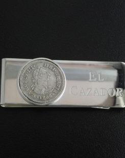 el cazador shipwreck coin money clip