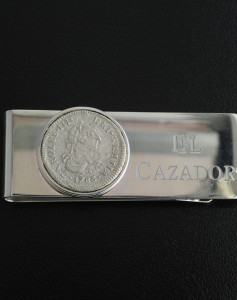 el cazador shipwreck coin money clip