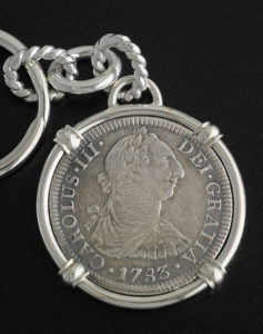 el cazador shipwreck coin key chain