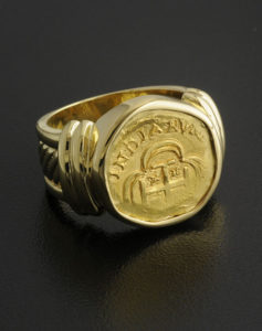 1715 fleet escudo coin ring