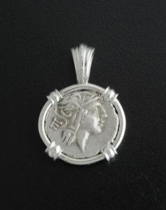roman denarius coin pendant