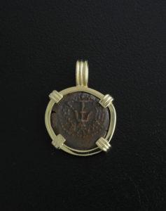 anceint widow's mite coin pendant