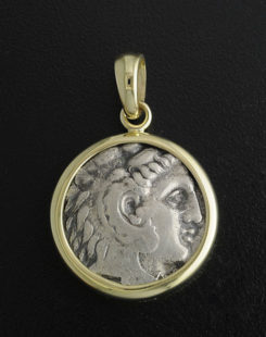 ancient greek tretradracm coin pendant