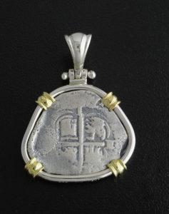 consolation shipwreck coin pendant