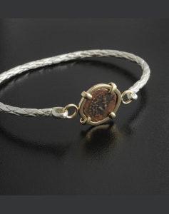 widow's mite coin bracelet