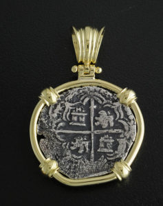 atocha two reales cob coin pendant