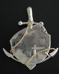 1715 fleet cob coin anchor pendant