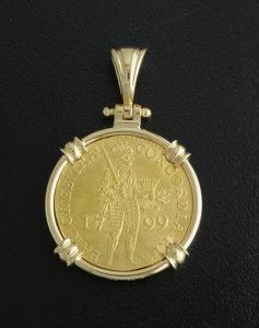 dutch ducat coin pendant
