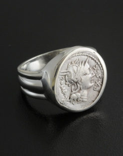 ancient roman denarius ring