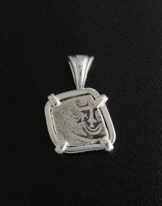 spanish half reale cob coin pendant