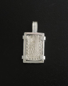 japanese isshu gin coin pendant