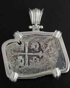 1715 fleet shipwreck coin pendant