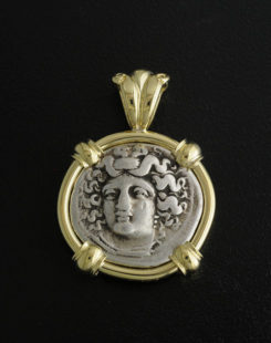 ancient greek drachm coin pendant