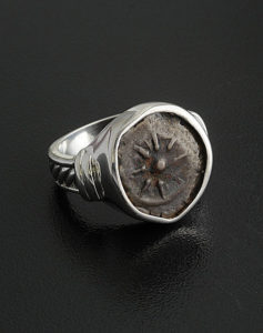 ancient widow's mite coin ring