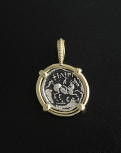 ancient greek tetrobol coin pendant