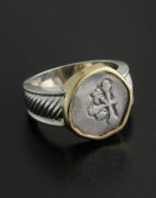 spanish half reale cob ring