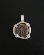 ancient widows mite coin pendant