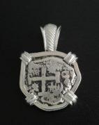 spanish two reales cob pendant