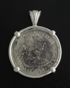 el cazador shipwreck coin pendant