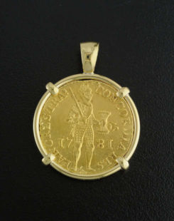 dutch ducat coin pendant