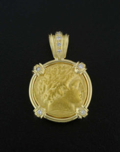 ancient greek gold coin pendant
