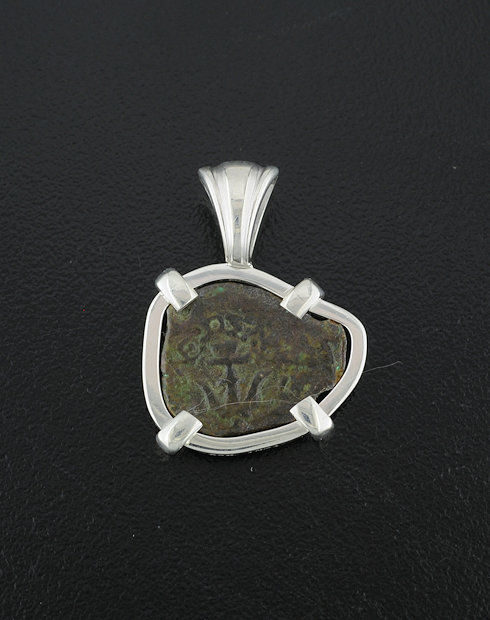ancient widow's mite coin pendant