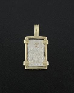 japaniese isshu gin coin pendant