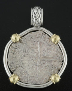 shipwreck atocha coin pendant