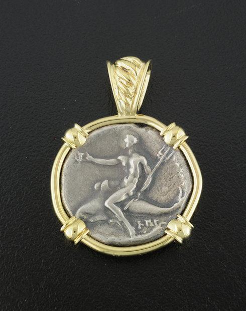 Greek nomos 37170 ancient greek coin pendant mozeypictures Choice Image