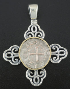 ancient crusader denier coin pendant