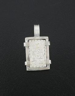 japanese isshu gin coin pendant