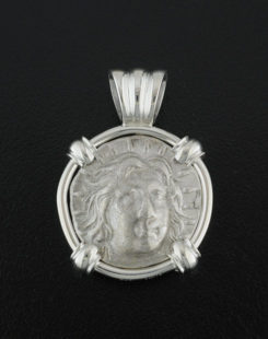 ancient greek didrachm coin pendant