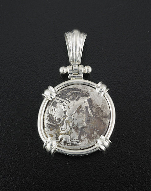 ancient roman denarius coin pendant