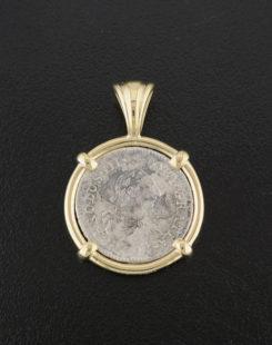 el cazador treasure coin pendant