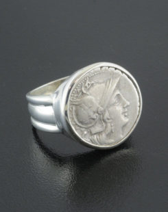 ancient roman denarius coin ring