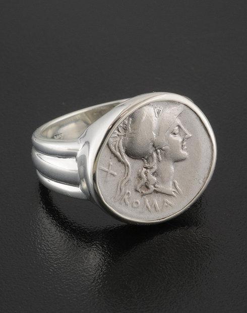 ancient roman denarius coin ring