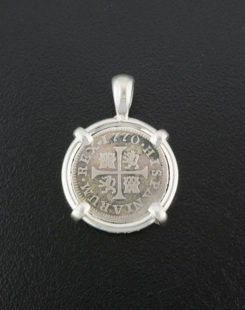 spanish cross type coin pendant