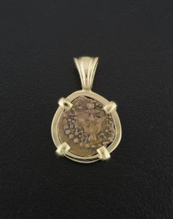 ancient widows mite coin pendant