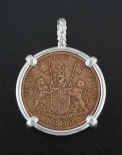 admiral gardner shipwrec coin pendant