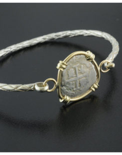 spanish one real cob coin bracelet