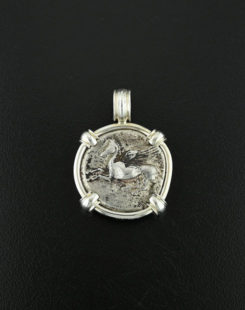 ancient greek coin pendant