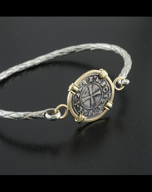 ancient crusader denier coin bracelet